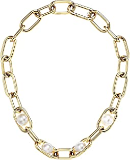 Michael Kors - Pearl Link Collar Necklace