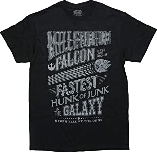Han Solo Chewbacca Chewie Millennium Falcon Junk Funny Humor Pun Mens Adult Graphic Tee T-Shirt