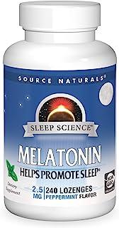 Source Naturals Sleep Science Melatonin 2.5 mg Peppermint Flavor - Helps Promote Sleep - 240 Lozenge Tablets
