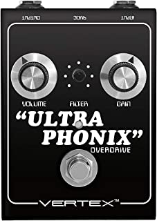 Vertex Effects Ultraphonix Overdrive Guitar Effects Pedal, Guitar and Bass Pedal Re-creates Overdrive Produced by Dumble O...