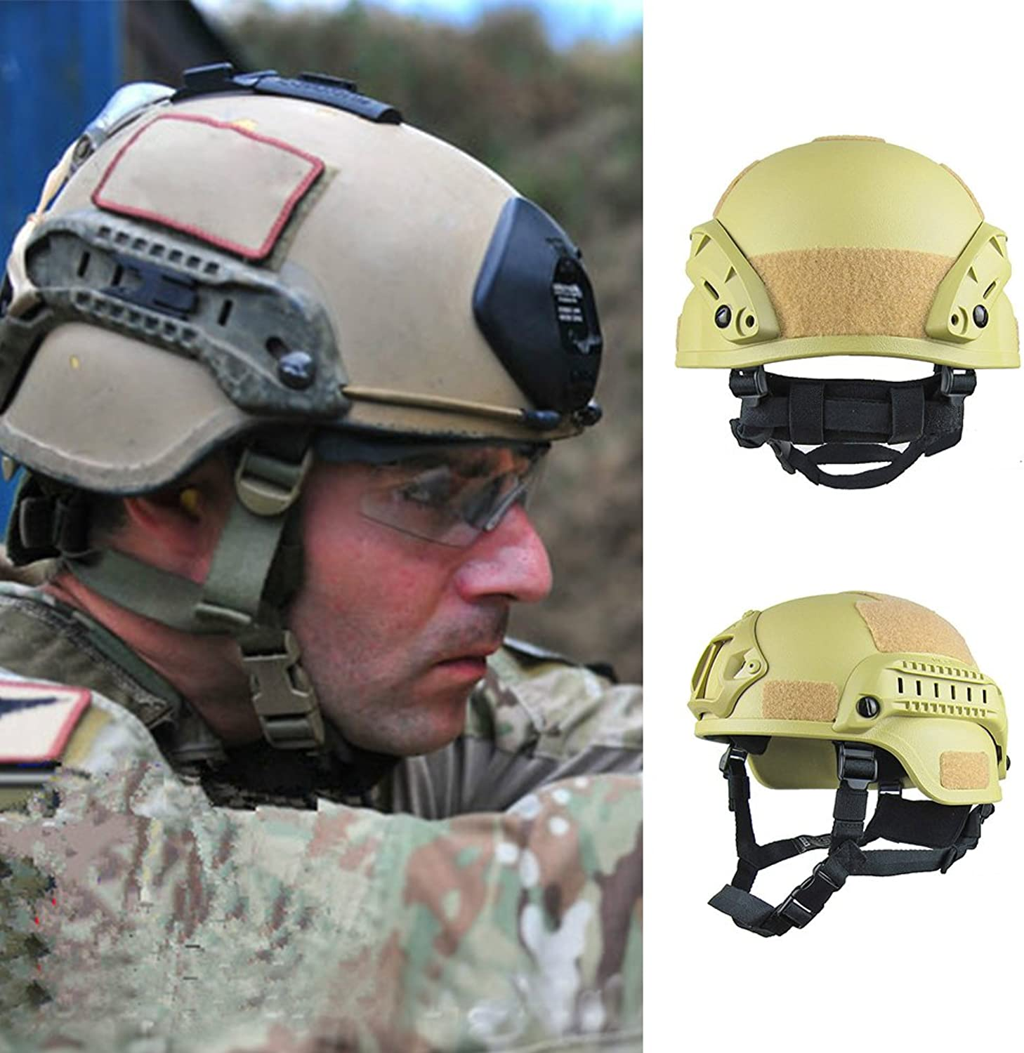 DAVEVY CS Games Helmet Cycling Safety Predective Helmet Unisex Lightweight Tactical for Outdoor Mountain Bike Bicycle War Field Operations