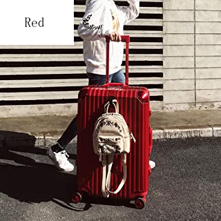 GLJJQMY Trolley Case Aluminum Frame Trolley Password Lock Suitcase Universal Wheel Suitcase Trolley case (Color : Red, Size : 24 inches)