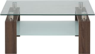 Jofran: , Compass, Square Glass Cocktail Table, 38
