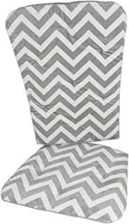 Baby Doll Bedding Minky Chevron Rocking Chair Pad, Grey