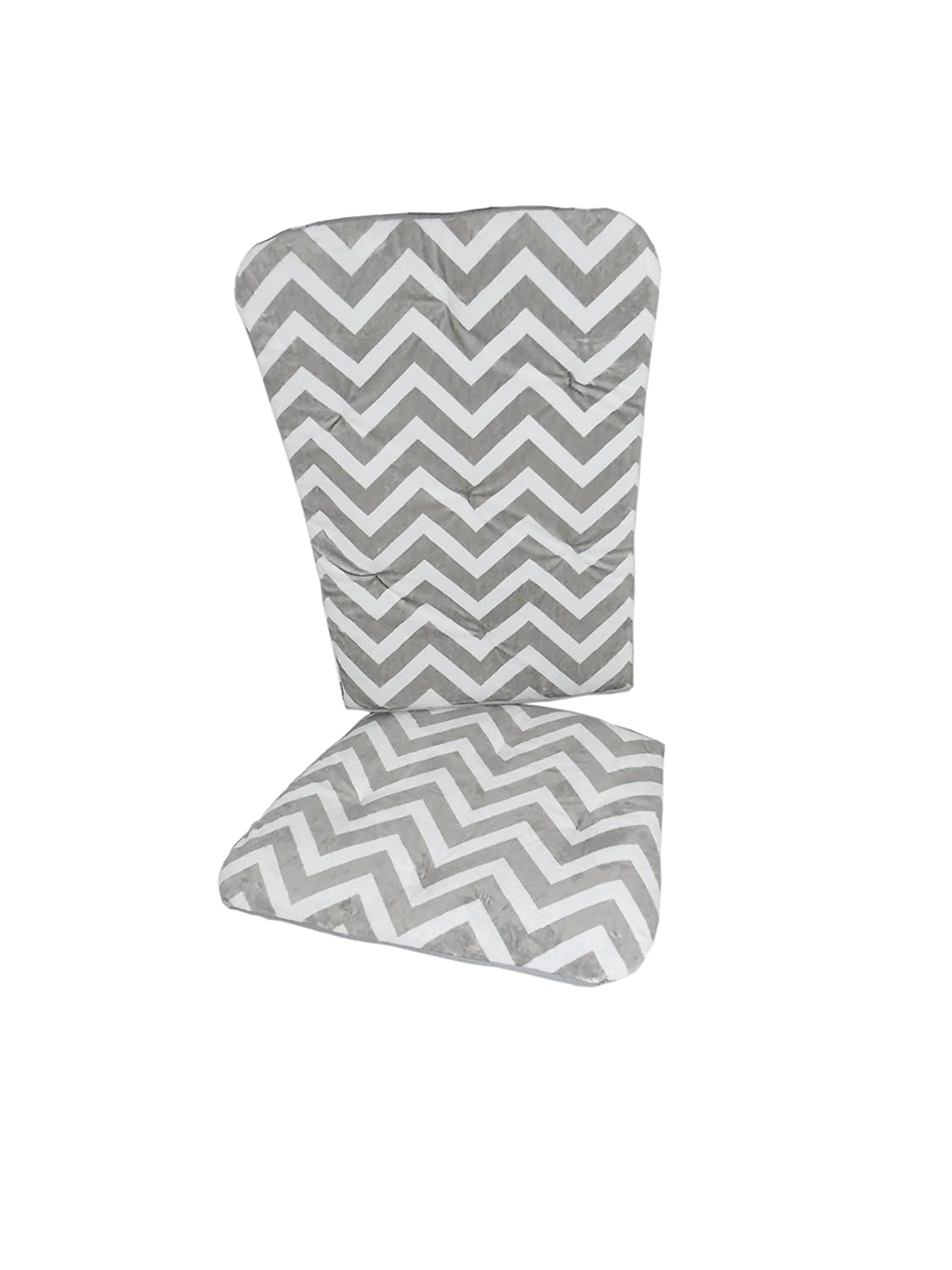 Baby Doll Bedding Minky Bargain Chevron Grey Pad Chair Complete Free Shipping Rocking