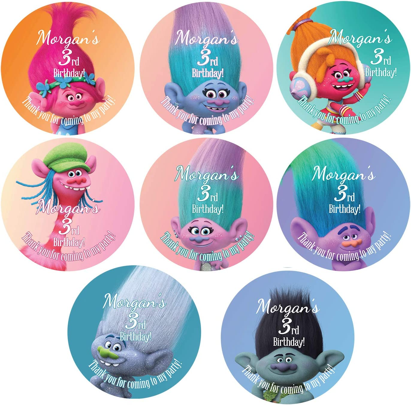 BIRTHDAY BUBBLE Favor LABELS or Address Labels Labels Only Personalized Birthday Party Favor Labels Sets of 30