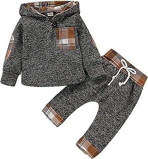 Ropa para bebés y niños Sudadera con Capucha Pantalones Largos Conjunto de 2 Piezas Trajes de Primavera y otoño