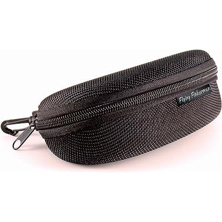 Belt Loop and Clip Black Flying Fisherman Zipper Shell Sunglass Case