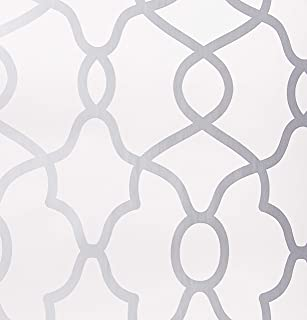 NuWallpaper NU2877 Clearly Cool Silver Peel and Stick Wallpaper, Grey
