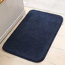 Bathroom Rugs Bath Mats for Bathroom Non Slip Chenille Bathroom Runner Rug 23.62in x 15.74in Water Absorbent Soft Microfib...
