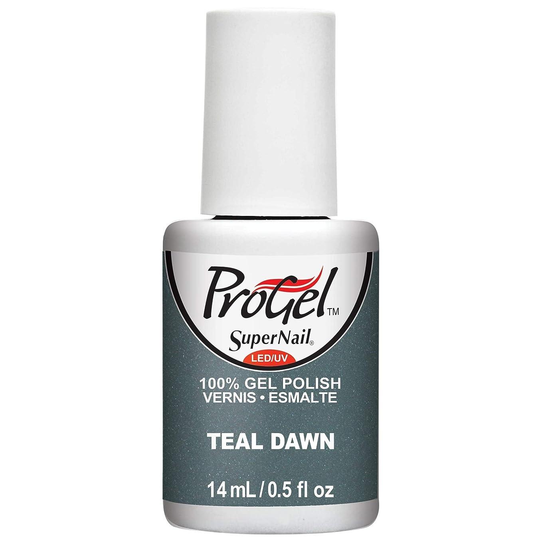 のため許容できる慎重SuperNail ProGel Gel Polish - Teal Dawn - 0.5oz / 14ml
