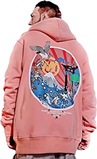 XYXIONGMAO Mountain and Cloud Crane Crew Neck Sweatshirt Graphic Street Hoodies Oversized Men Couple Hoodie