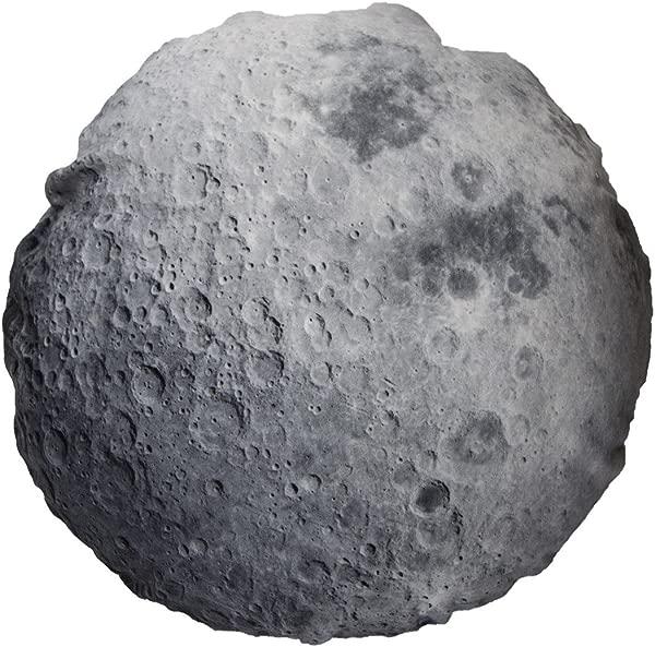 Calhoun Earth Moon Throw Pillow Covers Round Photo Realistic Print 18 Zip Close Moon