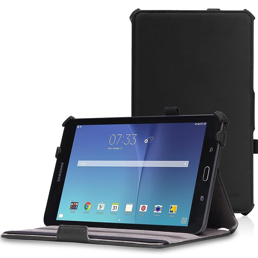 MoKo Samsung Galaxy Tab E 8.0 Case - Slim-Fit Multi-angle Folio Cover Case for Samsung Galaxy Tab E (Sprint / US Cellular / Verizon / AT&T) SM-T377 4G LTE 8.0 Inch Tablet, BLACK