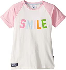 Smile! Rainbow Print Baseball Tee (Toddler/Little Kids/Big Kids)