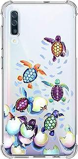 Suhctup Compatible con Samsung Galaxy A20S Funda para Silicona con Dibujos Animados Diseño Cárcasa Ultra-Fina Transparente Suave TPU Choque Cojín de Esquina Parachoque Caso-Tortuga 4
