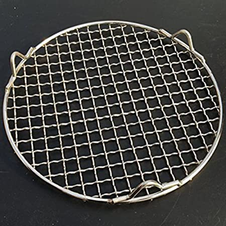 Round Mesh Steamer Cooling Rack Carbon Baking Net Grills for Cake Breads Cookies