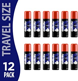 Gillette Foamy Shaving Cream Regular Men 2 Ounce (12 Pack) | Smooth Sensitive Skin Shave | Travel Size