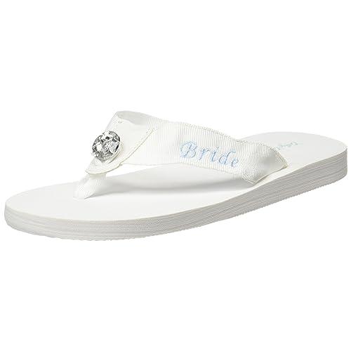 57f4a5e79760ea Cathy s Concepts Bride Flip Flops