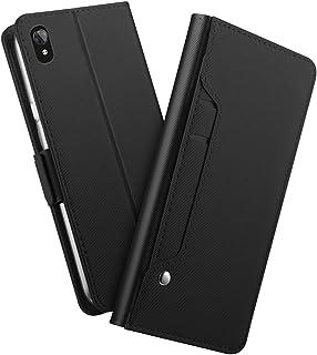 Xiaomi Redmi 7A カード ホルダー シェル, Xiaomi Redmi 7A 財布 シェル スリム, Xiaomi Redmi 7A レザー シェル カバー 耐衝撃性 シェル 〜と クレジット カード スロット, 耐久性のある 保護 シェル の Xiaomi Redmi 7A (Black)