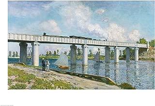 Railway Bridge at Argenteuil, 1873 by Claude Monet Art Print, 19 x 14 inches