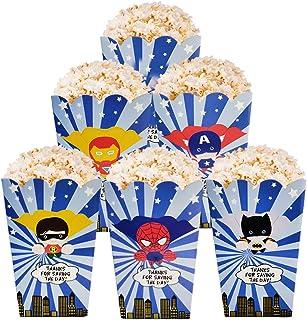 6 Popcorn Kids Birthday Party Favour Sea Animals Pop Popcorn Treat Snacks Boxes