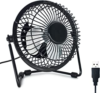 EzLife Mini Ventilatore USB, Mini Ventilatore Portatile 4 Pollici 360° Girevole Ventilatore da Tavolo Silenzioso Compatibi...