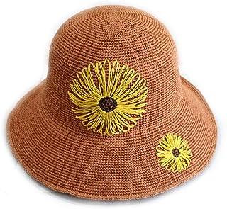 PLcmao Cappello da Sole Cappello di bamb/ù Contadino Giardino Traspirante Cappello Fresco per Il Tempo Libero Sole Cappello di Paglia Uomini E Donne Primavera Estate Adulto