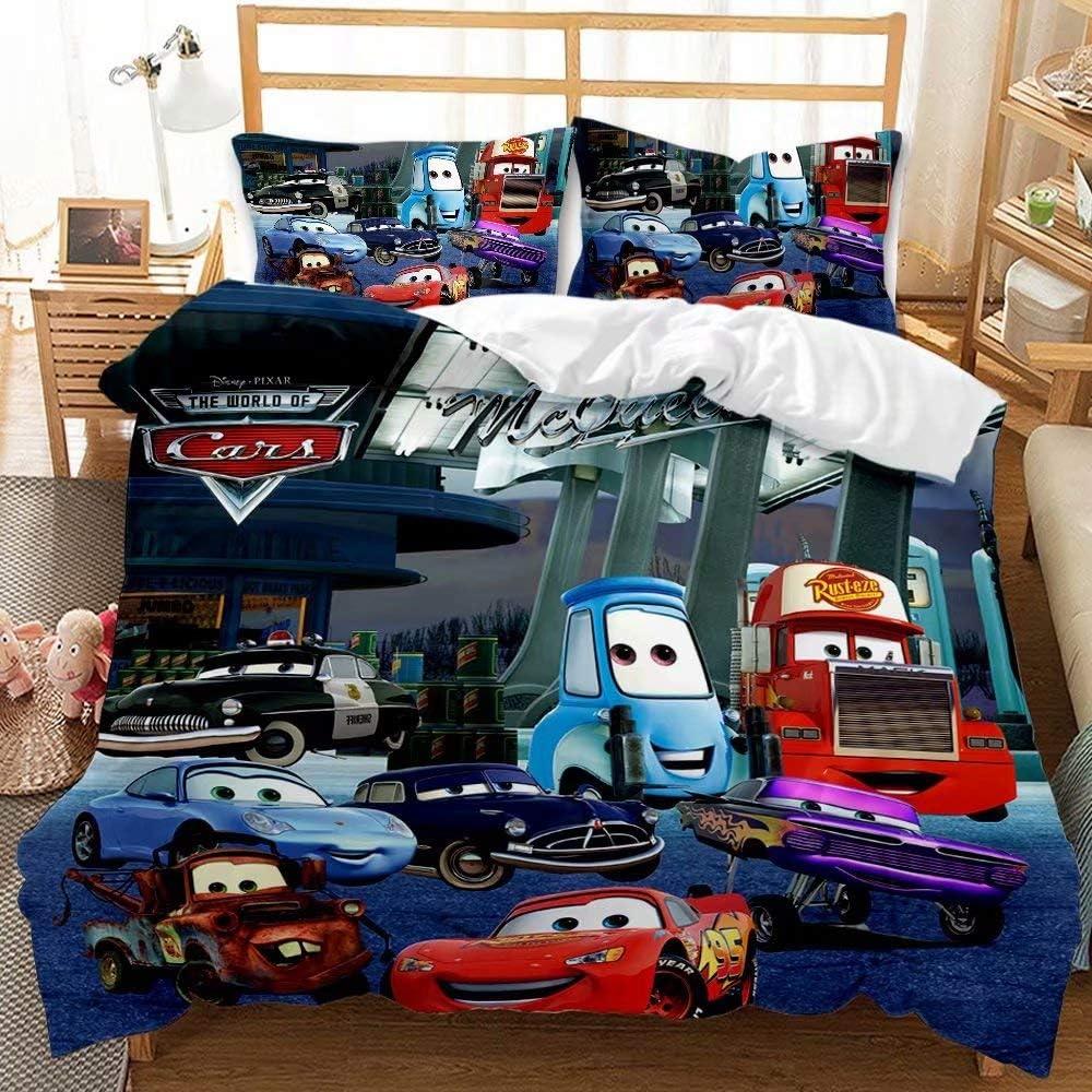 Indefinitely Haonsy Lightning McQueen Comforter Cover Award Cars Kids Bedding Duvet