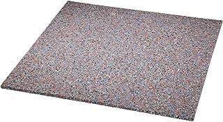 Xavax Anti-Vibrationsmatte für Waschmaschinen und Trockner 60 x 60 cm, Gummimatte, dämpft Vibrationen und Schall, Antirutsch-Matte, Waschmaschinen-Unterlage grau