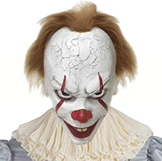 Halloween Creepy Clown Cosplay Costume The Clown Mask