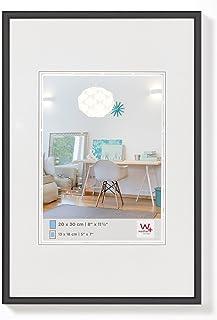comprar comparacion walther design KV070B New Lifestyle, marco di plástico, 50x70 cm, negro, pack de 1