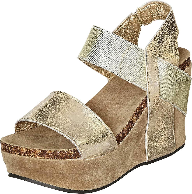 Pierre Dumas Hester-1 Women's Platform Wedge Sandals