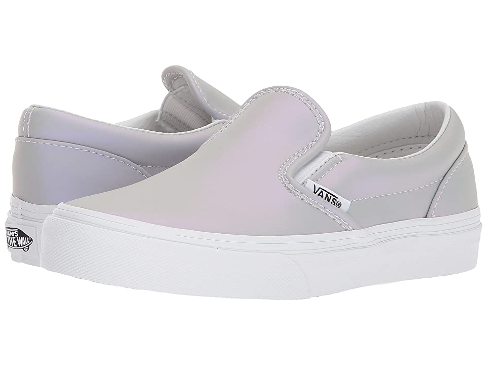 Vans Kids Classic Slip-On (Little Kid/Big Kid) ((Muted Metallic) Gray/Violet) Girls Shoes