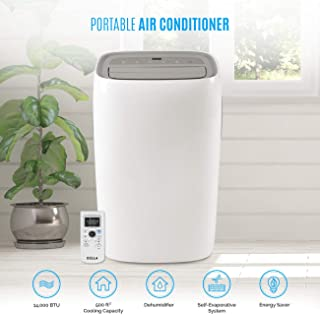 Super Intelligent, Spot Cooling Small Rooms Up to 500sq Ft 14,000 BTU Portable Air Conditioner Dehumidifier AC Unit Remote Window Kit White