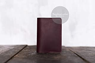 Cave Ball Silhouette Leather Passport Holder Cover Case Travel One Pocket