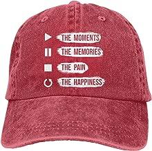 Play The Moments, Pause The Memories Men Women Adjustable Dad Hat Baseball Caps Sandwich Hat Trucker Hats