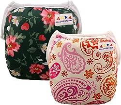 ALVABABY Swim Diapers Girls One Size Reuseable & Adjustable 2pcs SW15-17