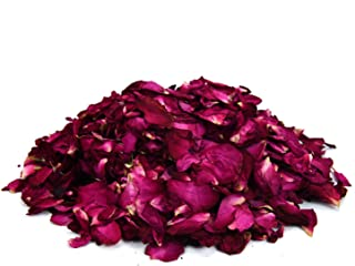 Pomeat 100 Gram Natural Real Red Rose Flower,Dried Rose Buds Petals Red for Wedding Party Decoration,Making Rose Water, Crafting, Body Wash, Foot Wash