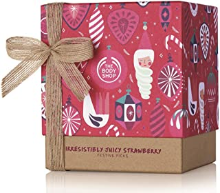 The Body Shop strawberry gift Set, Moisurizes & Softens Skin, Enriched With Community Trade Shea Butter From Ghana, 5Piece