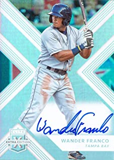 2018 Panini Elite Extra Edition #67 Wander Franco Certified Autograph Pre-Rookie Baseball Card
