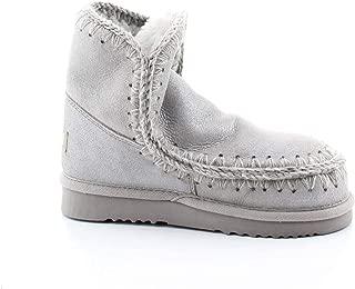 Mou Luxury Fashion Womens ESKIMO18DUSIL Silver Ankle Boots | Fall Winter 19