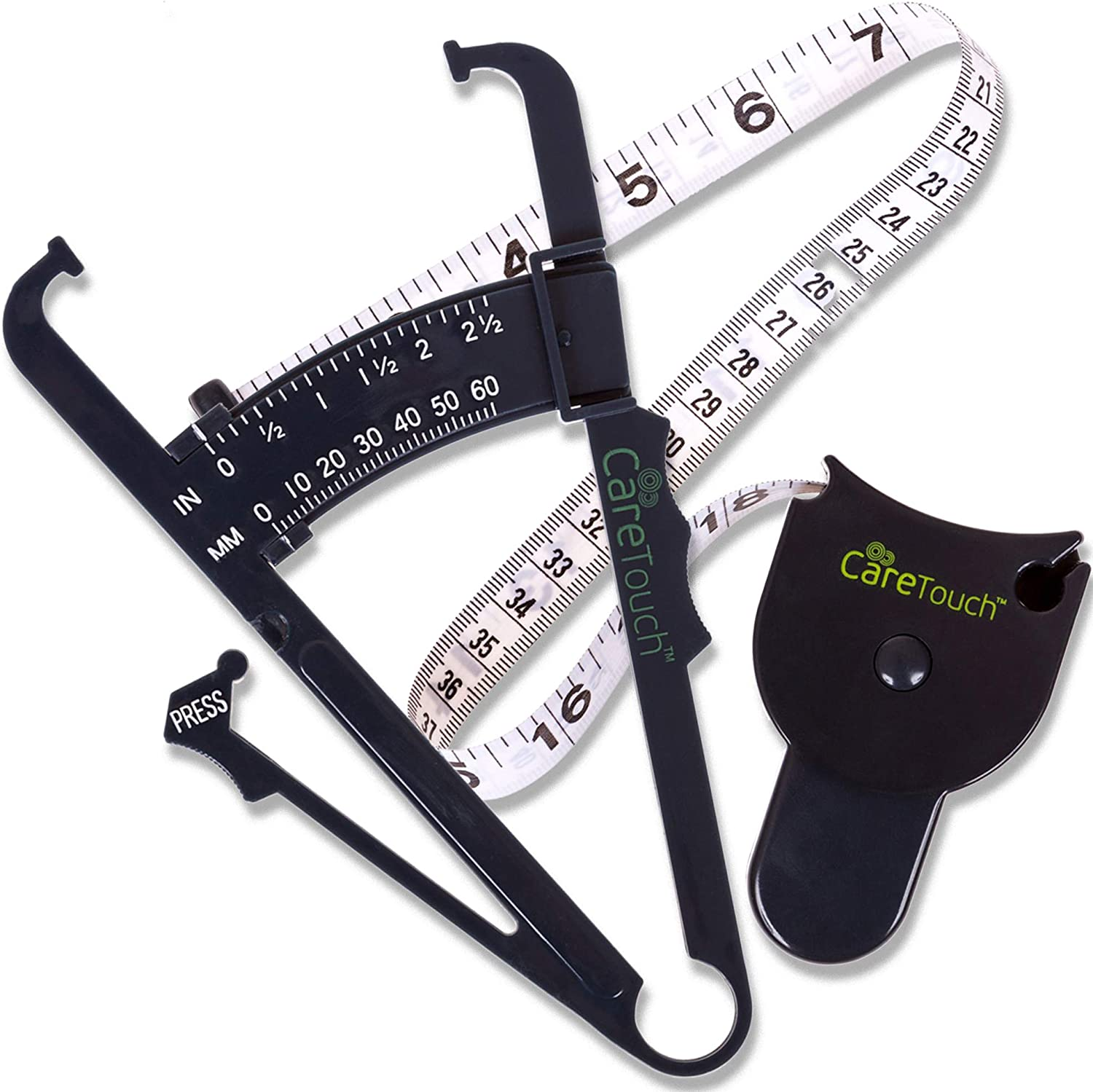 Care Purchase Touch Skinfold Body Fat Measure Tape Set Caliper Included Max 51% OFF
