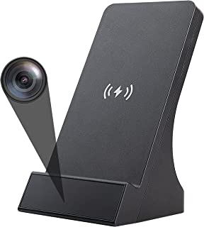 LIZVIE Spy Camera WiFi Hidden Camera with Wireless Phone Charger 720P Security Cameras Nanny Cam with Motion Detection, Ph...