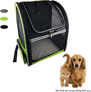 MY-PETS Pet Backpack Carrier for Small Dogs, Cats, Birds, Rats, Bunnies, Mesh Ventilation Bag with Breathable Windows for Walking, Hiking, Travel and Outdoor Activities, Airline Approved Pet Carrier