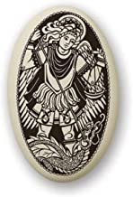 Touchstone Pottery St Michael Porcelain Medal on Braided Cord | Patron Saint of Police, Soldiers and All Protectors