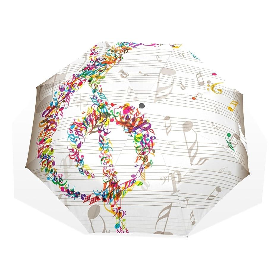適応する枕件名マキク(MAKIKU) 折り畳み傘 レディース 晴雨兼用 手開き 日傘 軽量 音符 音楽 ホワイト uvカット 紫外線対策 頑丈な8本骨 耐強風 撥水 三つ折り 丈夫 収納ケース付 携帯用傘