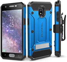 Galaxy J7 2018 / J7 Refine / J7 V 2nd Gen / J7 Star Case, Evocel [Explorer Series Pro] Premium Full Body Case w/Glass Screen Protector, Belt Clip, Metal Kickstand for J7 Top / J7 Crown, Blue