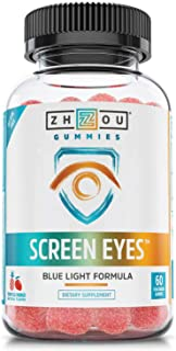 Zhou Nutrition Screeneyes Gummies, Tropical Mango, 60 Count