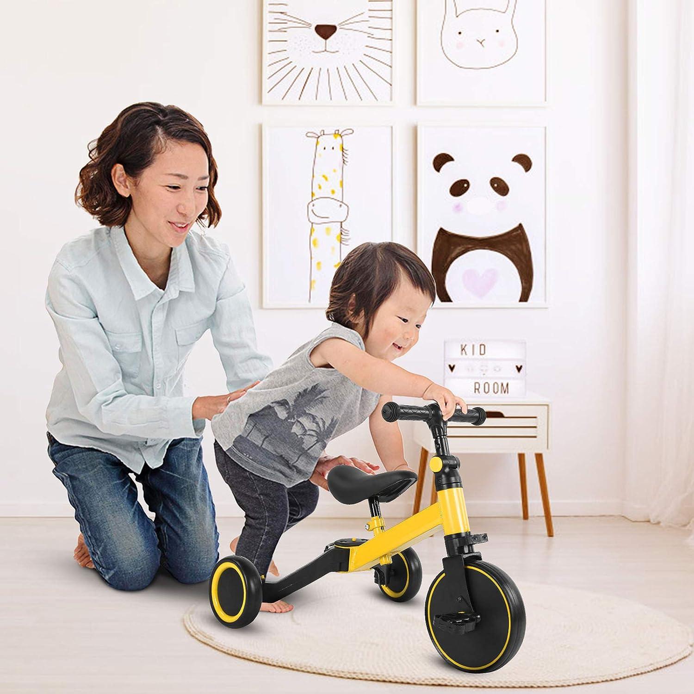 Bicicletta da bilanciamento per Bambini Bicicletta da Triciclo per Bambini Bici da Passeggio Pieghevole per Bambini Ejoyous 3 in 1 Bici da bilanciere per Triciclo per Bambini Bici da Equilibrio